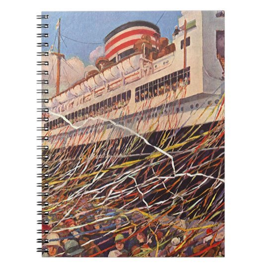 Vintage Cruise Ship Vacation; Bon Voyage Party! Notebook