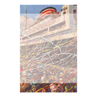 Vintage Cruise Ship Vacation; Bon Voyage Party! Stationery