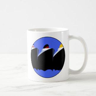 Vintage Cruise Ships Poster Ocean Liners Coffee Mug