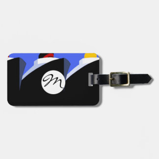 Vintage Cruise Ships Poster Ocean Liners Luggage Tag