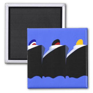 Vintage Cruise Ships Poster Ocean Liners Fridge Magnets