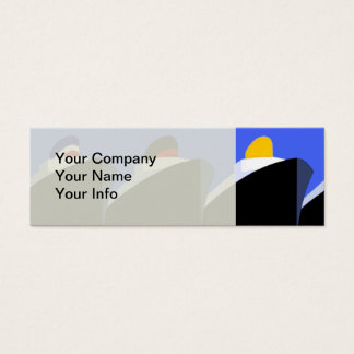 Vintage Cruise Ships Poster Ocean Liners Mini Business Card