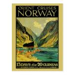 Vintage Cruises Great Britain Norway Postcard