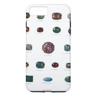 Vintage crystal gemstone gems diamond print iPhone 7 plus case