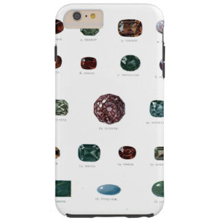 Vintage crystal gemstone gems diamond print tough iPhone 6 plus case