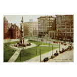 Vintage cuadrado 1915 del búfalo NY de Lafayette Impresiones