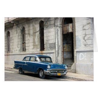 vintage cuba car card
