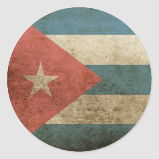 Vintage Cuba Pegatina Redonda