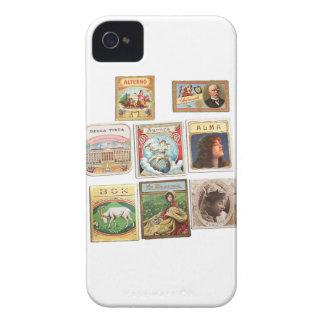 Vintage Cuba seals Memorabilia Labels Case-Mate iPhone 4 Case