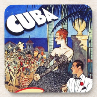 Vintage Cuba So Near So Fast Travel Coaster