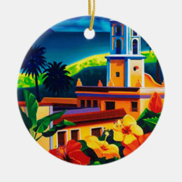Vintage Cuba Travel Ceramic Ornament