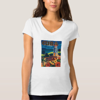 Vintage Cuba Travel Poster Tee