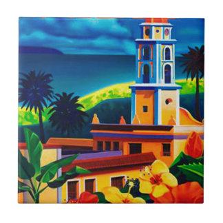 Vintage Cuba Travel Tile