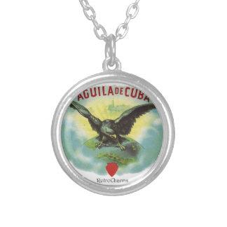 Vintage Cuban Eagle of Cuba Silver Plated Necklace