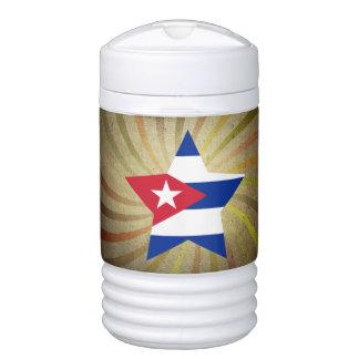 Vintage Cuban Flag Swirl Igloo Beverage Dispenser