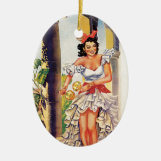 Vintage Cuban Tourist Commission Tropics Travel Ceramic Ornament