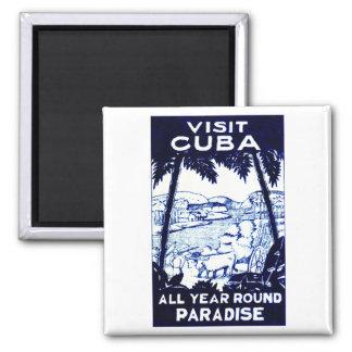 Vintage Cuban Travel Poster Refrigerator Magnets