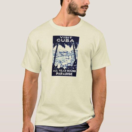 Vintage Cuban Travel Poster T-Shirt