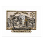 Vintage Cubano Banco de Cuba de Cuba Tarjetas Postales