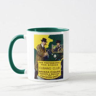Vintage Cubano Club Cigars Mug