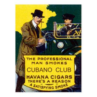 Vintage Cubano Club Cigars Postcard