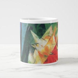 Vintage Cubism, Birds aka Vogel by Franz Marc 20 Oz Large Ceramic Coffee Mug