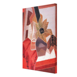 Vintage Cubism, Flowers on a Table by Juan Gris Canvas Print