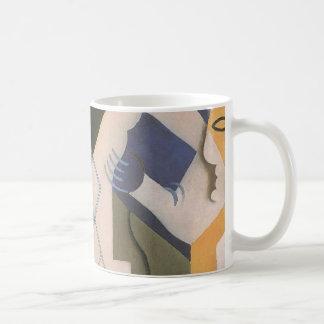Vintage Cubism, Harlequin at a Table by Juan Gris Coffee Mug
