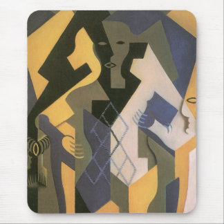 Vintage Cubism, Harlequin at a Table by Juan Gris Mouse Pad