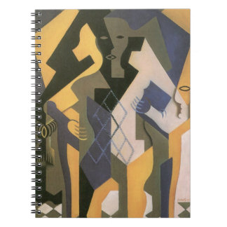 Vintage Cubism, Harlequin at a Table by Juan Gris Notebook