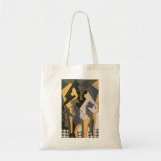 Vintage Cubism, Harlequin at a Table by Juan Gris Tote Bag