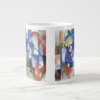 Vintage Cubism, Lying Bull by Franz Marc 20 Oz Large Ceramic Coffee Mug