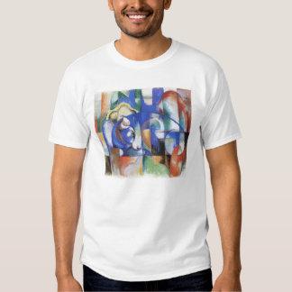 Vintage Cubism, Lying Bull by Franz Marc Tshirt