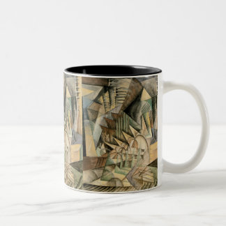 Vintage Cubism, Rush Hour, New York by Max Weber Two-Tone Coffee Mug
