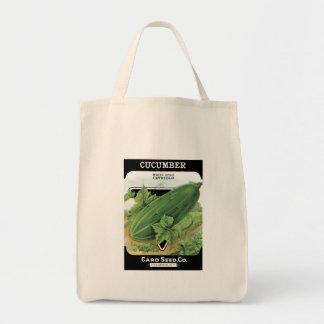 Vintage Cucumber Seed Packet Tote Bag