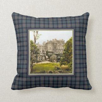 Vintage Culzean Castle Clan Kennedy Tartan Throw Pillow
