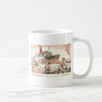 Vintage Cunard R.M.S. Laconia Coffee Mug