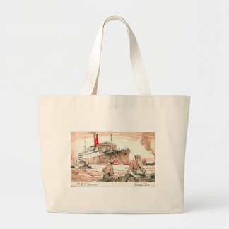 Vintage Cunard R.M.S. Laconia Tote Bags