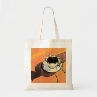 Vintage Cup of Coffee, Saucer, Spoon with Shadow Tote Bag