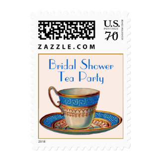 Vintage Cup Tea Party Bridal Shower Postage Stamp