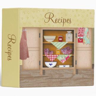 Vintage Cupboard Recipe Binder