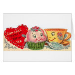 Vintage Cupcake And Teacup Valentine's Day Card