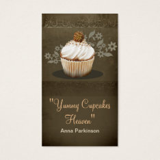 Vintage Cupcakes Business Card at Zazzle