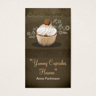 vintage cupcakes business card