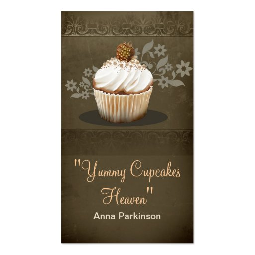 vintage cupcakes business card (front side)