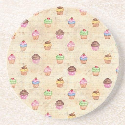 Vintage Cupcakes Coaster