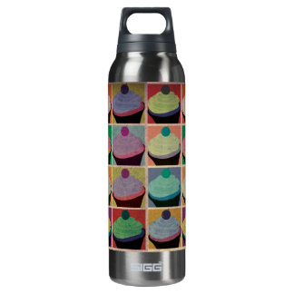 Vintage Cupcakes Insulated Water Bottle