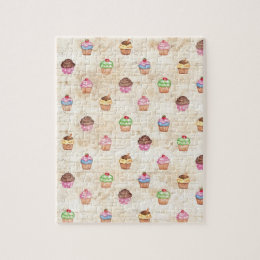 Vintage Cupcakes Jigsaw Puzzle