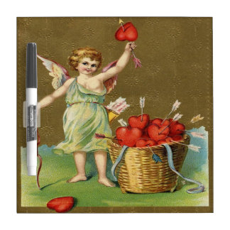 Vintage, Cupid Angel, Arrows, Hearts Dry Erase Board