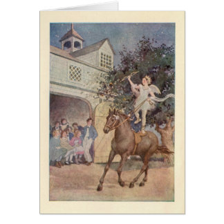 Vintage Cupid Child Angel & Horse w/Bow and Arrow Cards